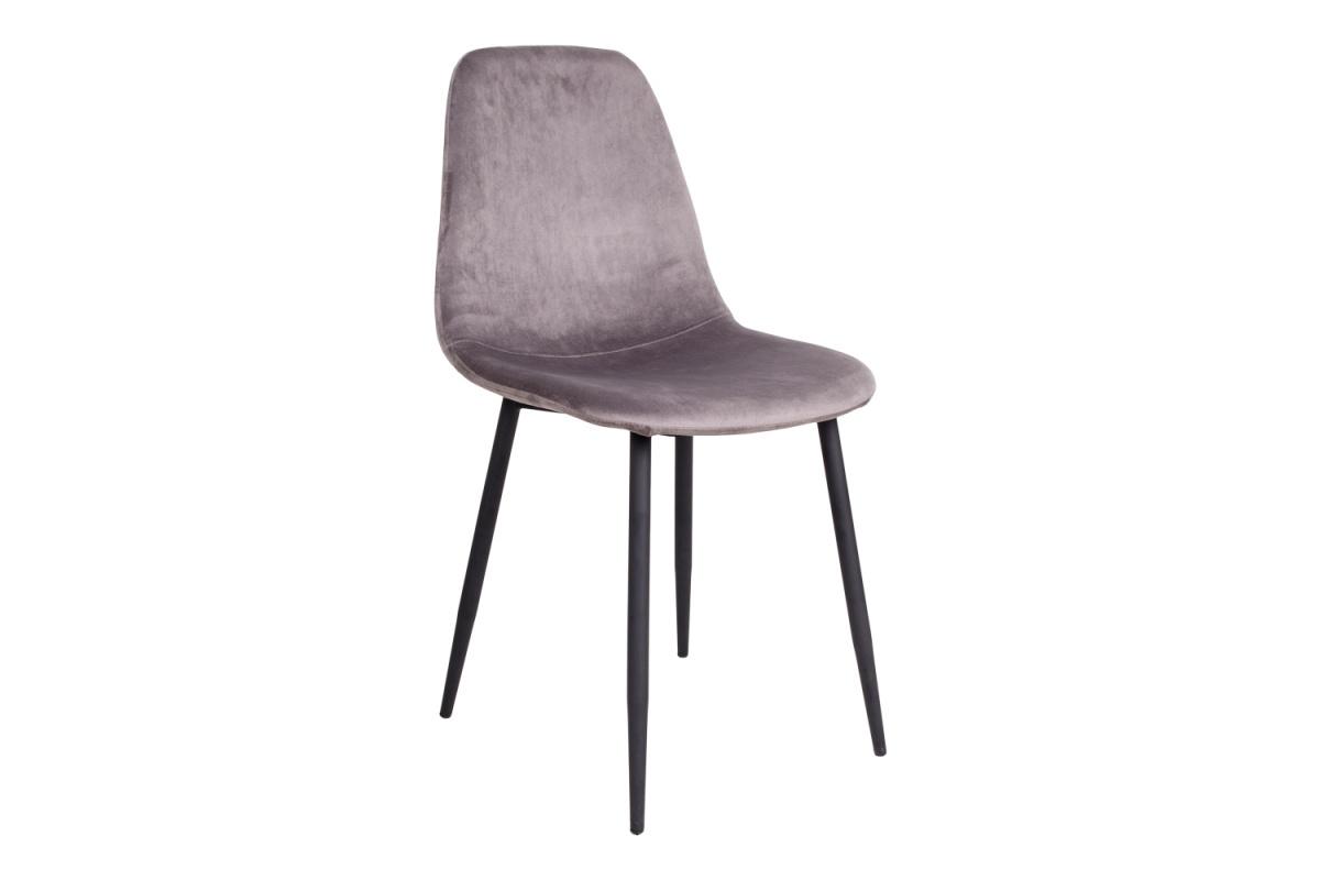 Norddan Designová jídelní židle Myla, šedá, černé nohy