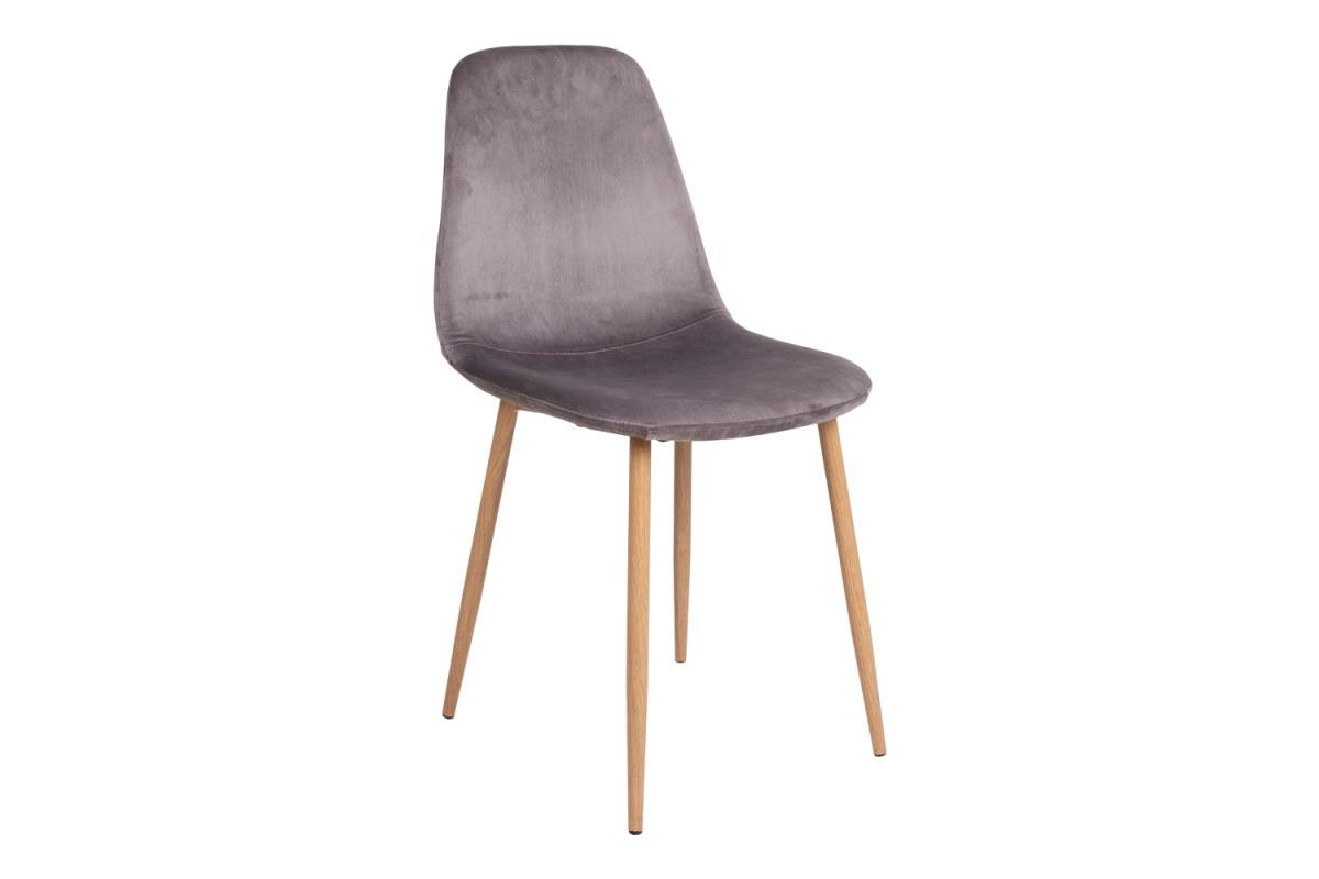 Norddan Designová jídelní židle Myla šedá - světlé nohy