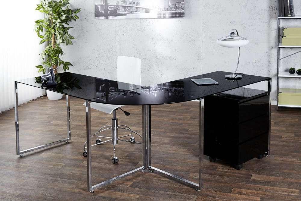 LuxD Kancelářský stůl Atelier černý