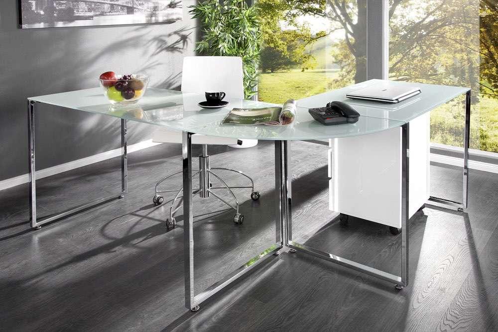 LuxD Kancelářský stůl Atelier bílý