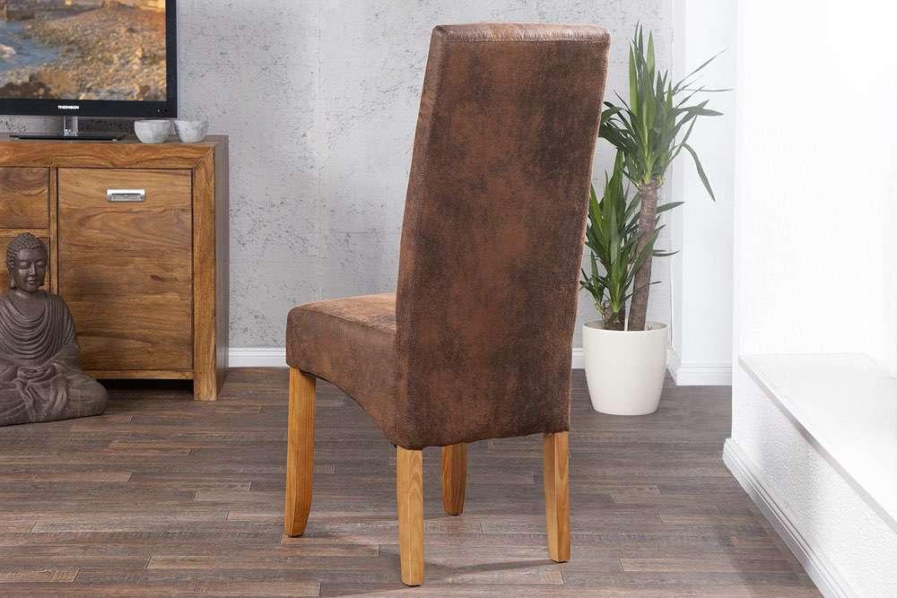 Židle Clemente Vintage Look světle hnědá
