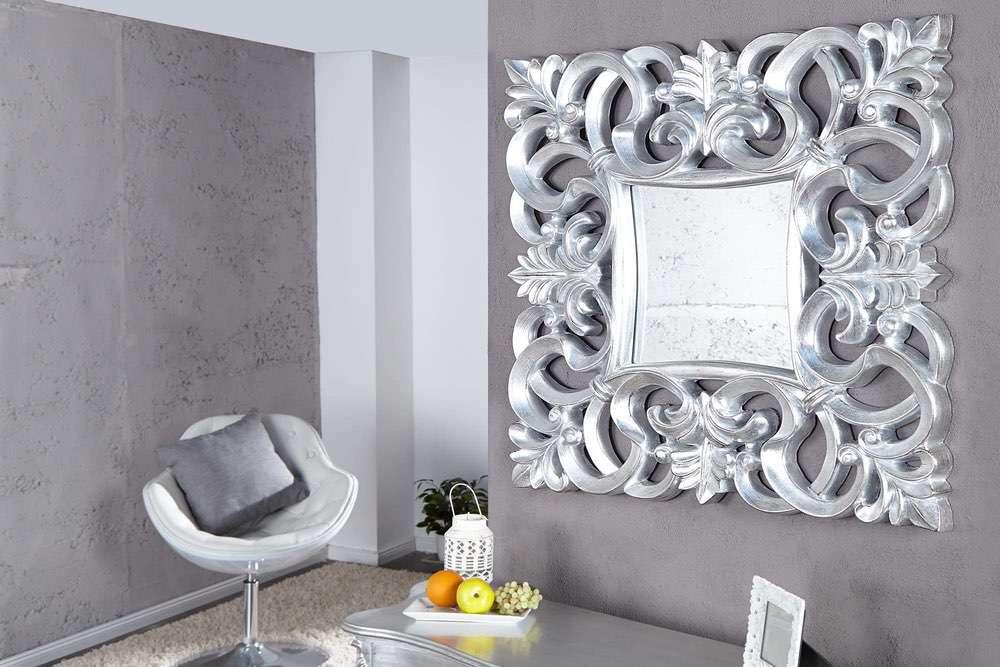 Zrcadlo Veneto stříbrné Antik 75cm