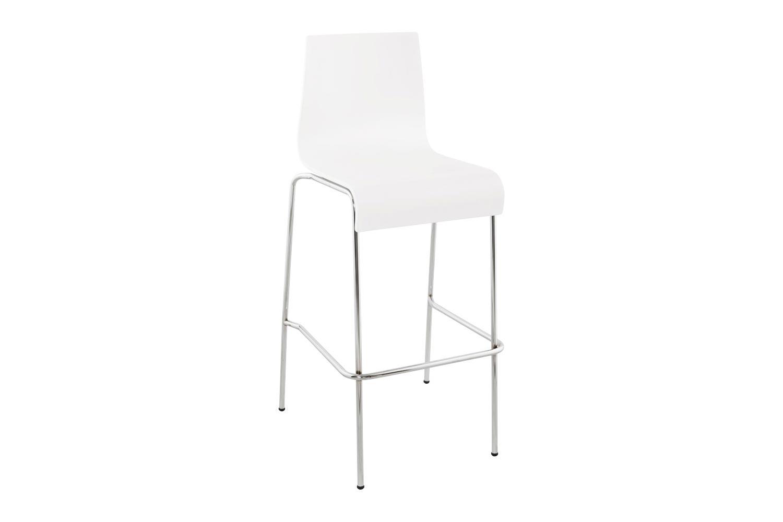 DesignS Moderní barová židle Aiden bílá