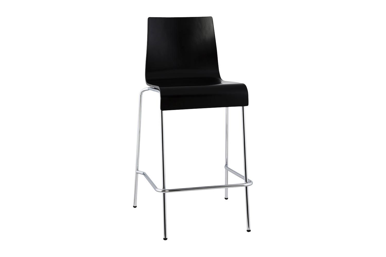DesignS Moderní barová židle Henry černá