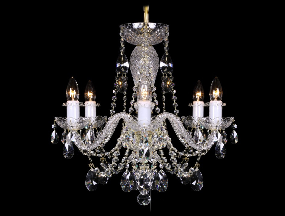 Levně Glass 17994 Křišťálový lustr Grande R6 závěsné svítidlo