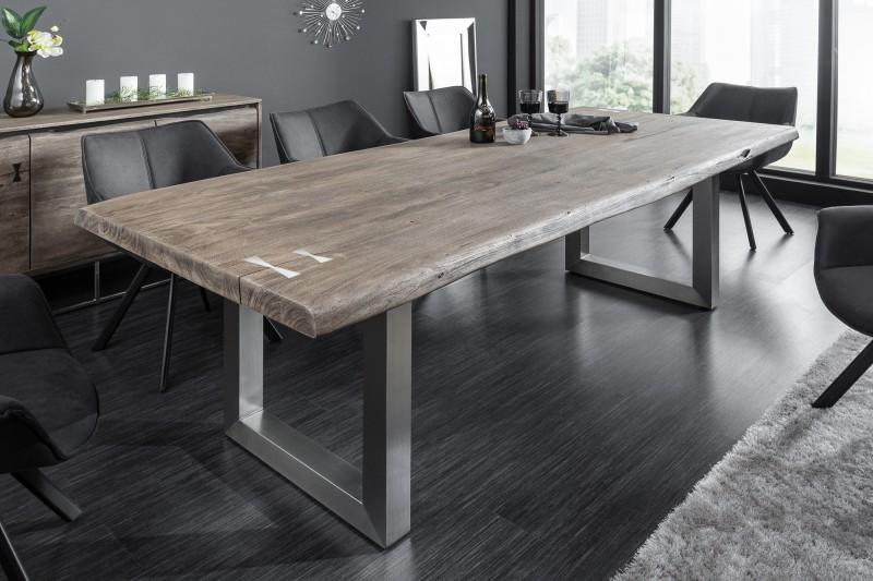 Levně LuxD Designový jídelní stůl Massive Artwork 200 cm šedá akácie