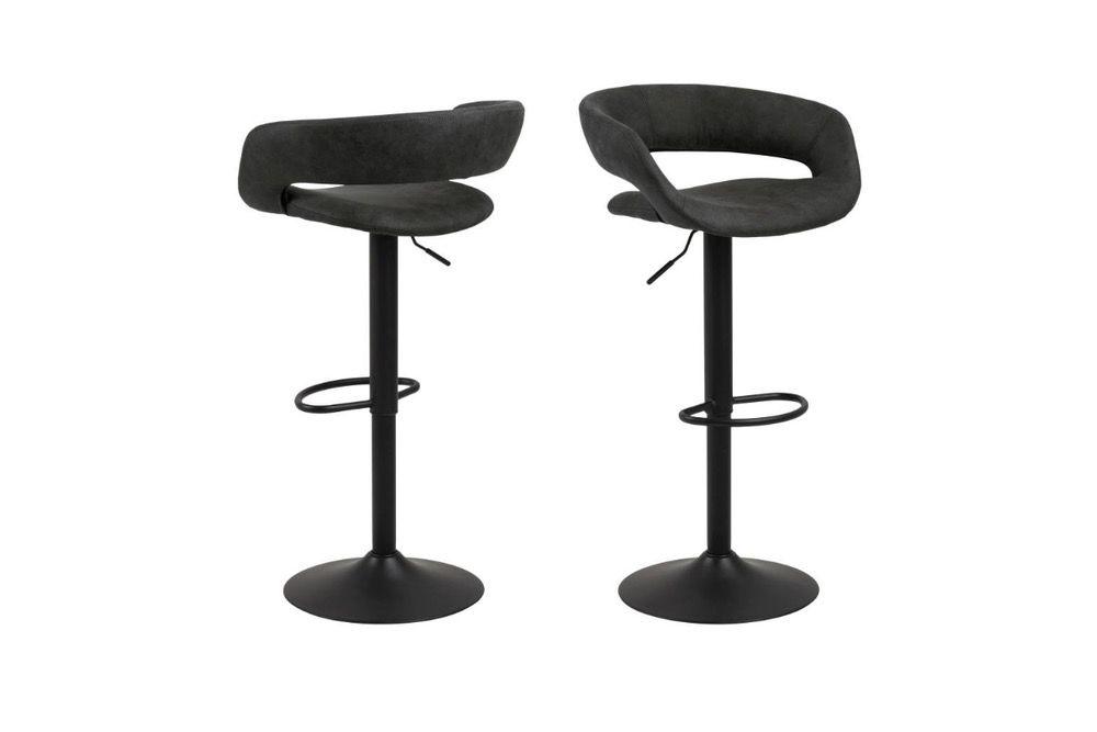 Dkton Designová barová židle Natania antracitová a černá