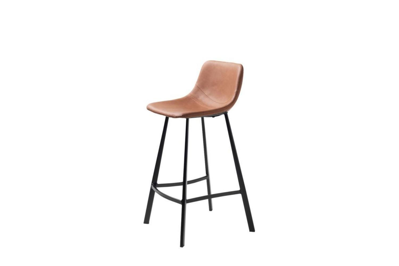 Designová barová židle Claudia světlehnědá