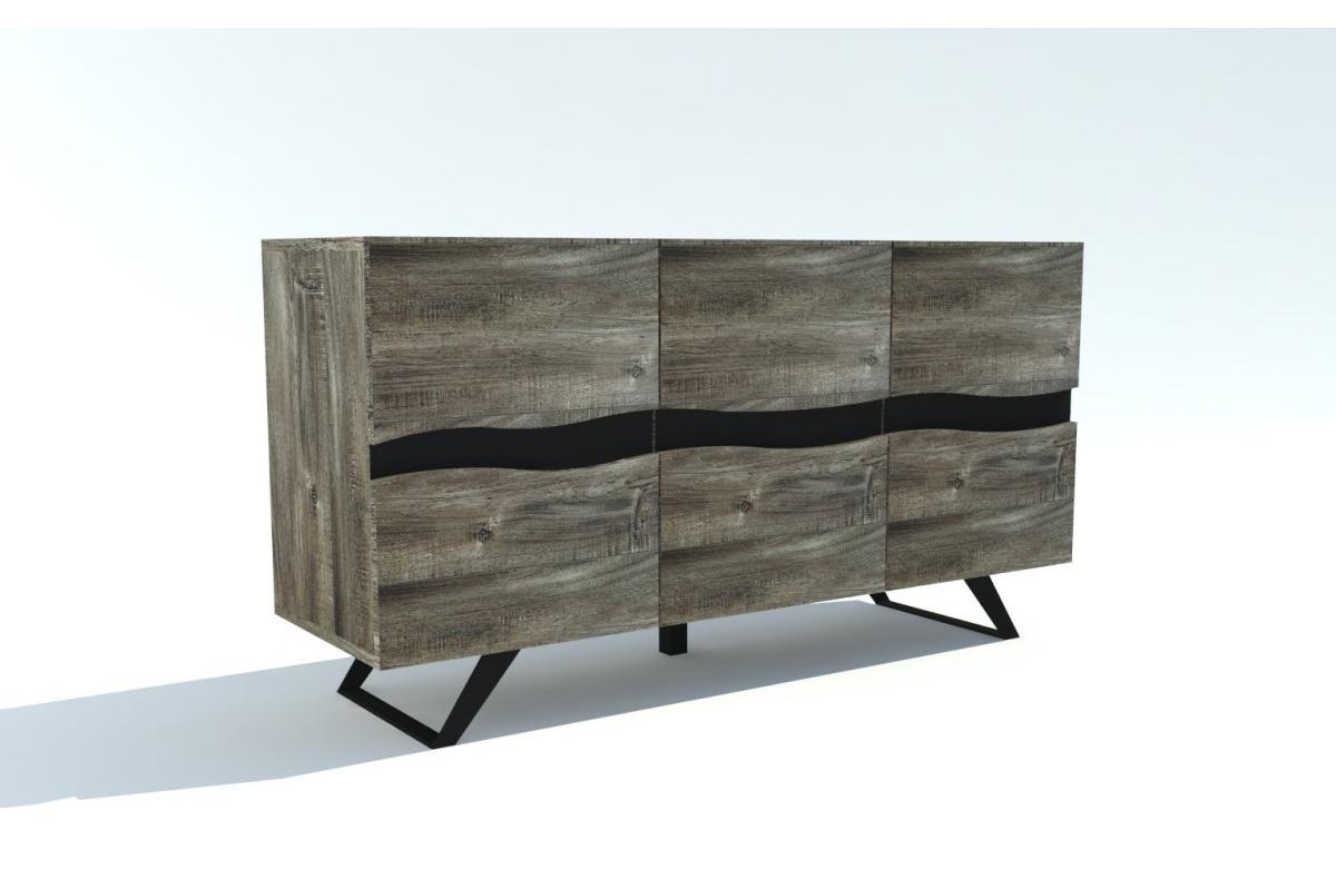 Levně LuxD Designová komoda Evolution Grey 160 cm akácie
