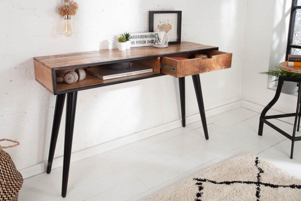 LuxD Designová konzola Stream 120 cm mango