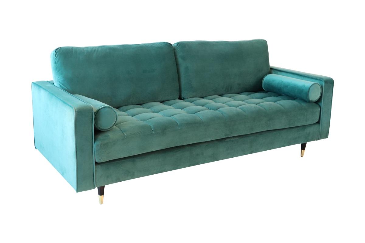 Designová sedačka Adan smaragdově zelený samet