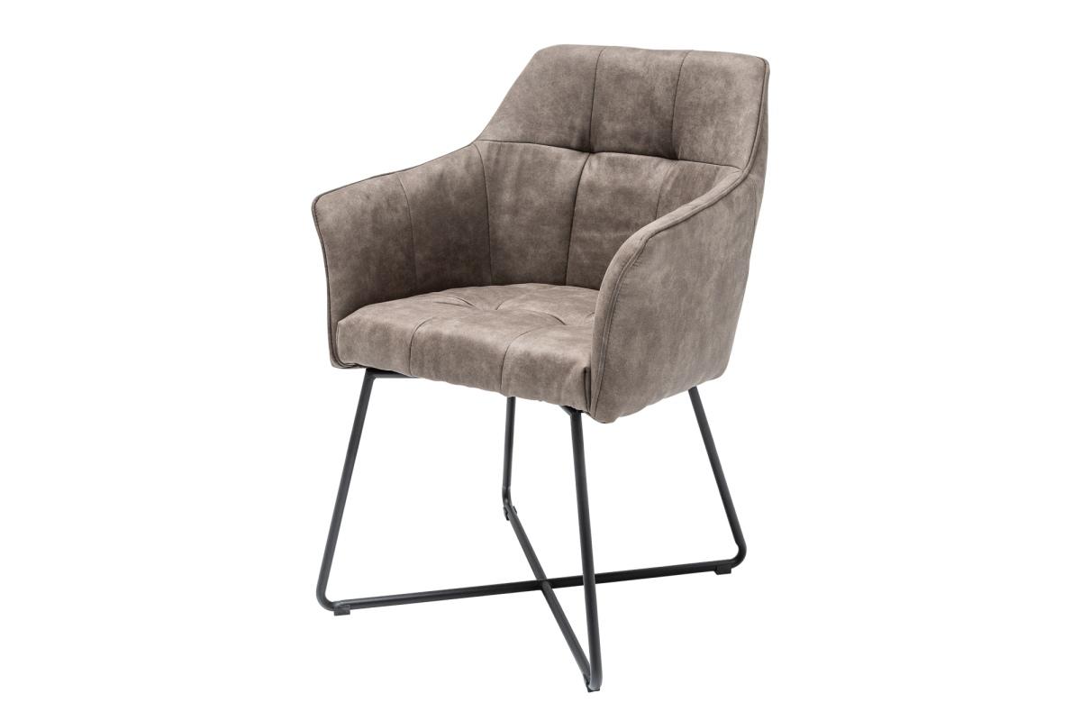 Designová židle Giuliana taupe