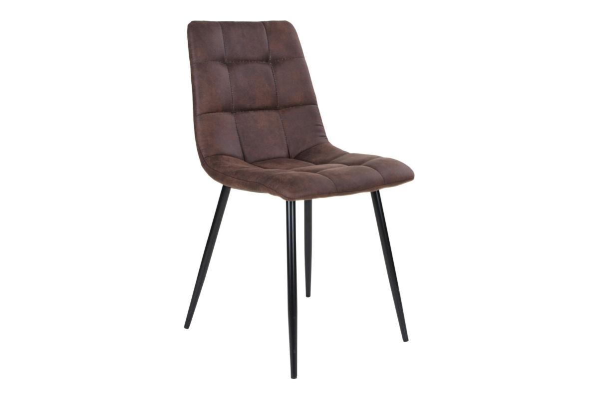 Levně Norddan Designová židle Dominik tmavě hnědá