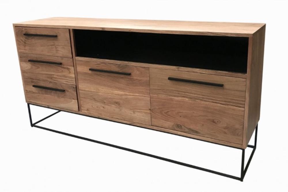 Levně LuxD Designová komoda Malakai 165 cm přírodní - akácie