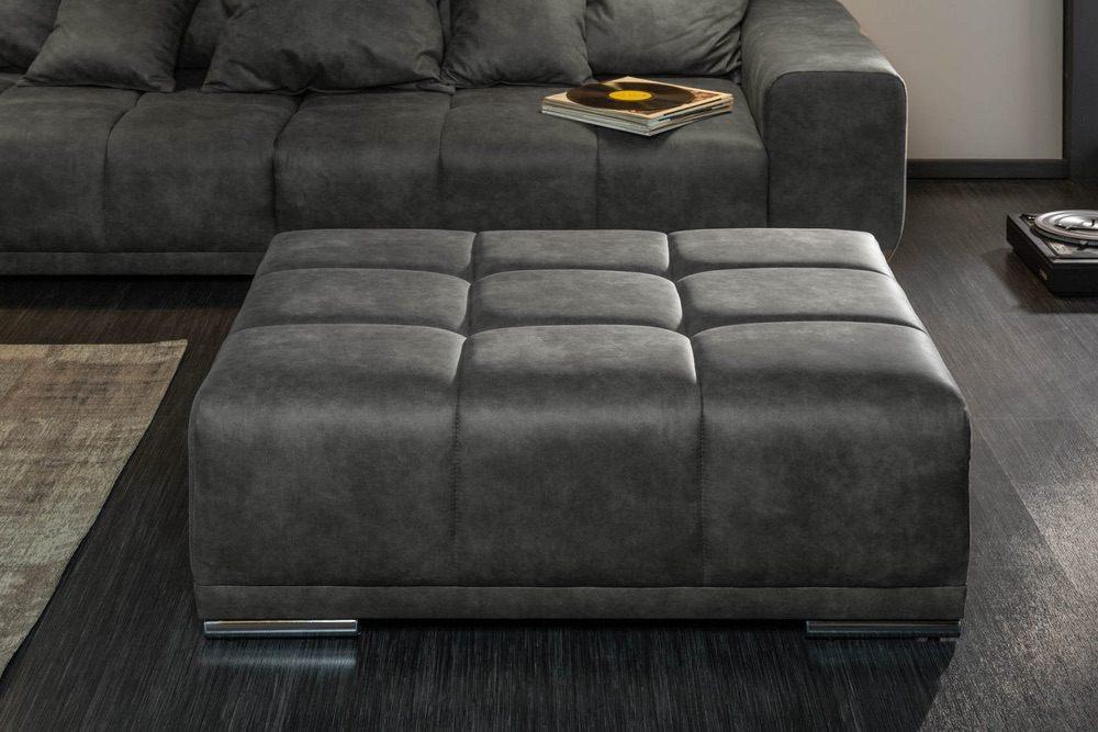 Designová taburetka Cason 110 cm antik šedá