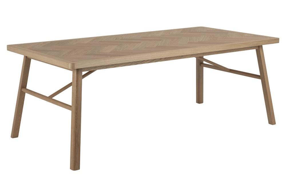 Levně Dkton Designový jídelní stůl Dangola 200 cm dub