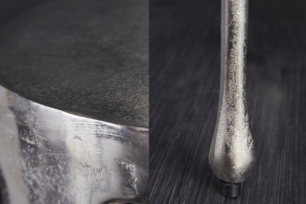 Designový konferenční stolek Gwendolyn 51 cm stříbrný