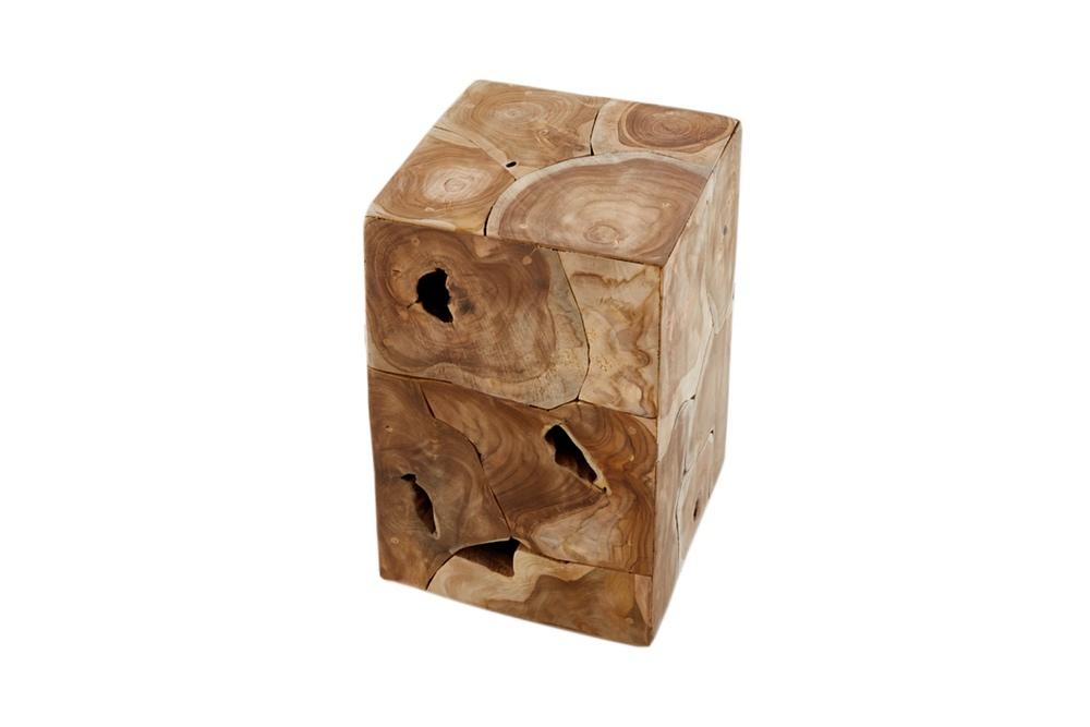 Designový odkládací stolek Junk 30 cm teak