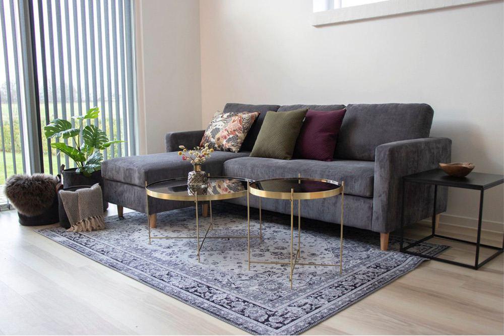 Levně Norddan Designový konferenční stolek Tatum 70 cm zlatý-černý - Skladem (RP)