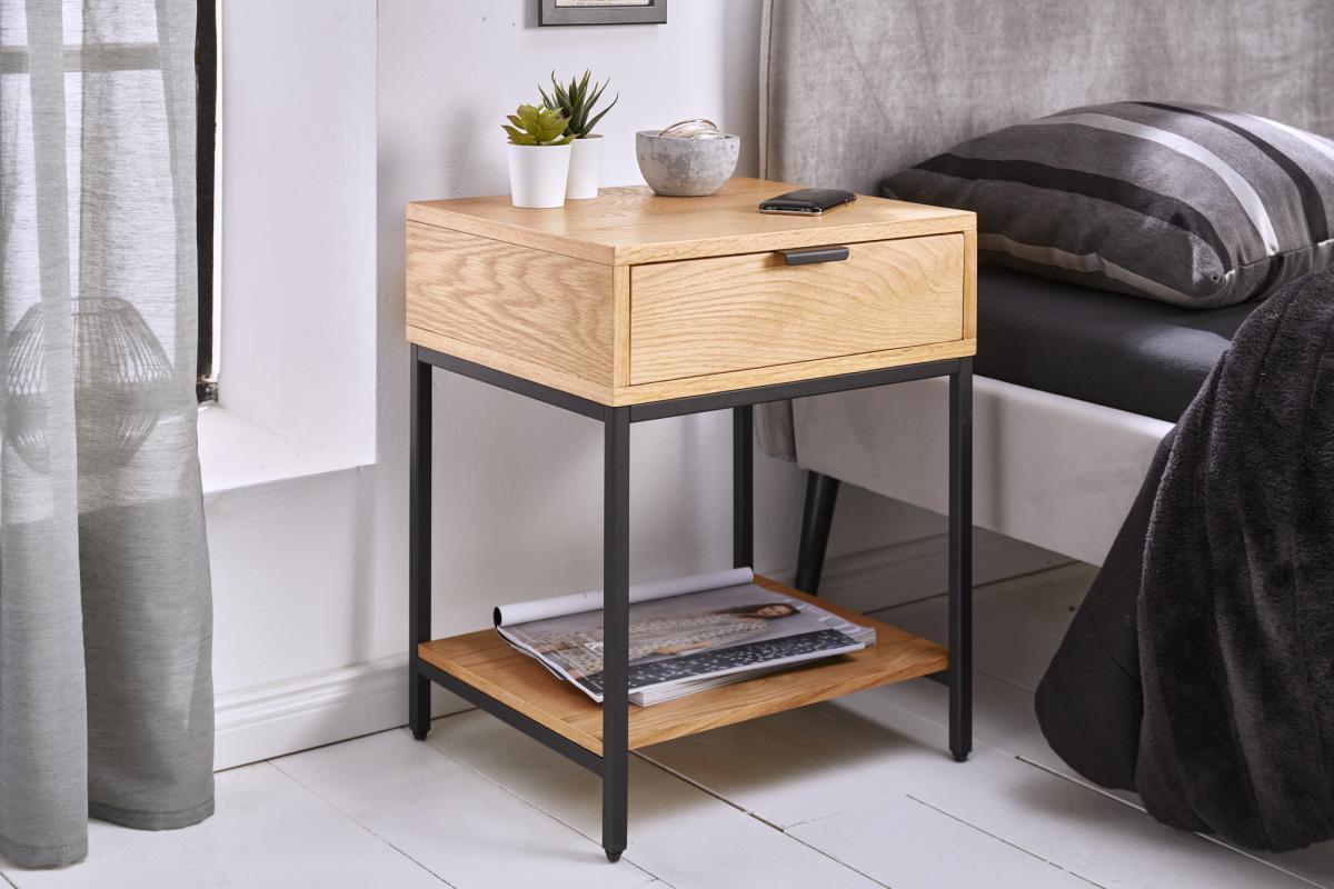 LuxD Designový noční stolek Factor 40 cm dub