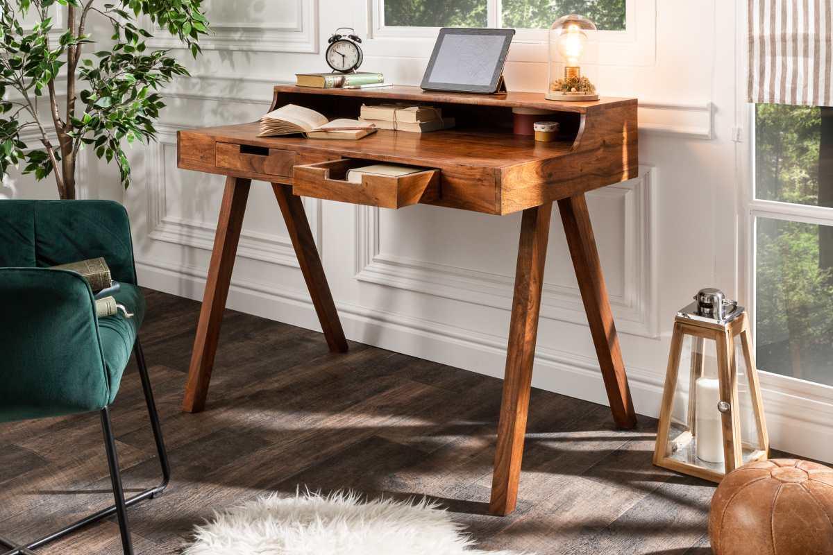 LuxD Designový psací stůl Freddo 100 cm akácie