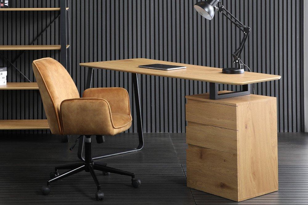 LuxD 25500 Designový psací stůl Kiana 160 cm vzor dub