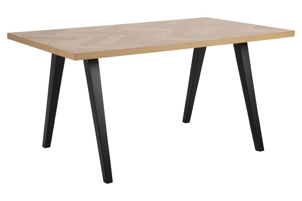 Dkton Designový jídelní stůl Cristopher 150 cm vzor dub