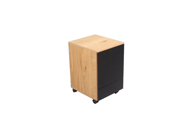 LuxD Designový kancelářský kontejner Kiana vzor dub
