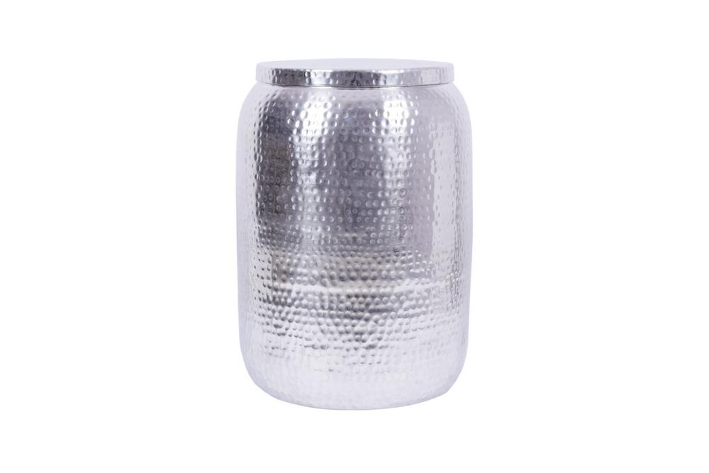 Designový odkládací stolek Malia Storage 35 cm stříbrný