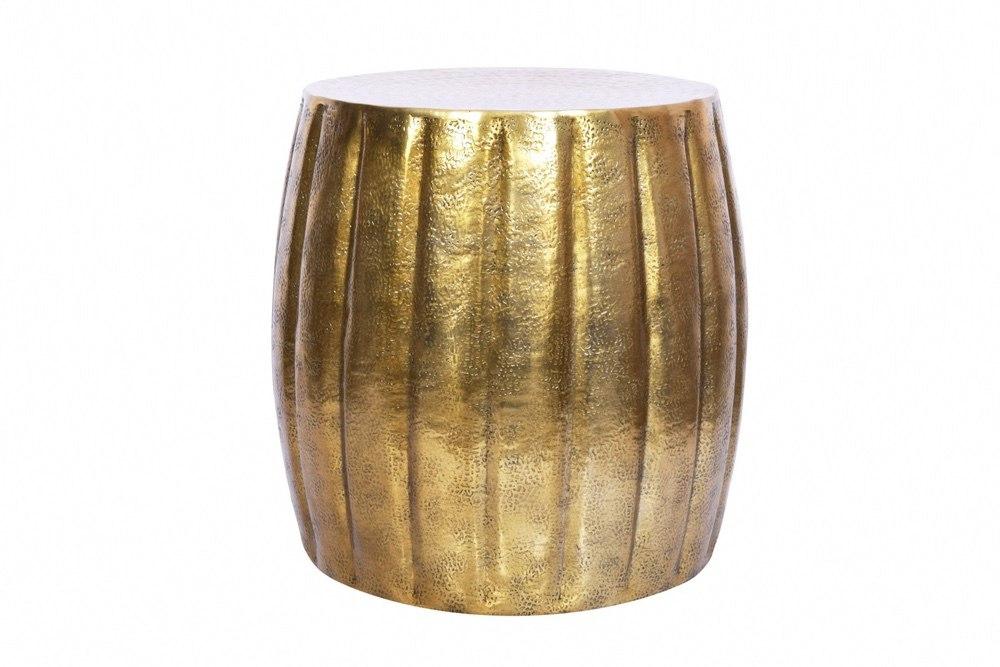 Designový odkládací stolek Maroko 42 cm zlatá barva