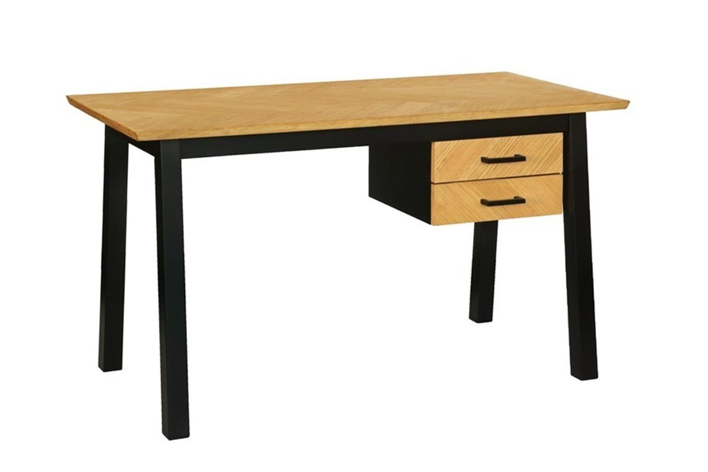 Dkton Designový psací stůl Nazy 130 cm vzor dub