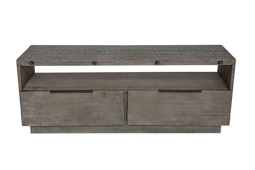 Levně LuxD Designový TV stolek Harlow 150 cm šedý - borovice