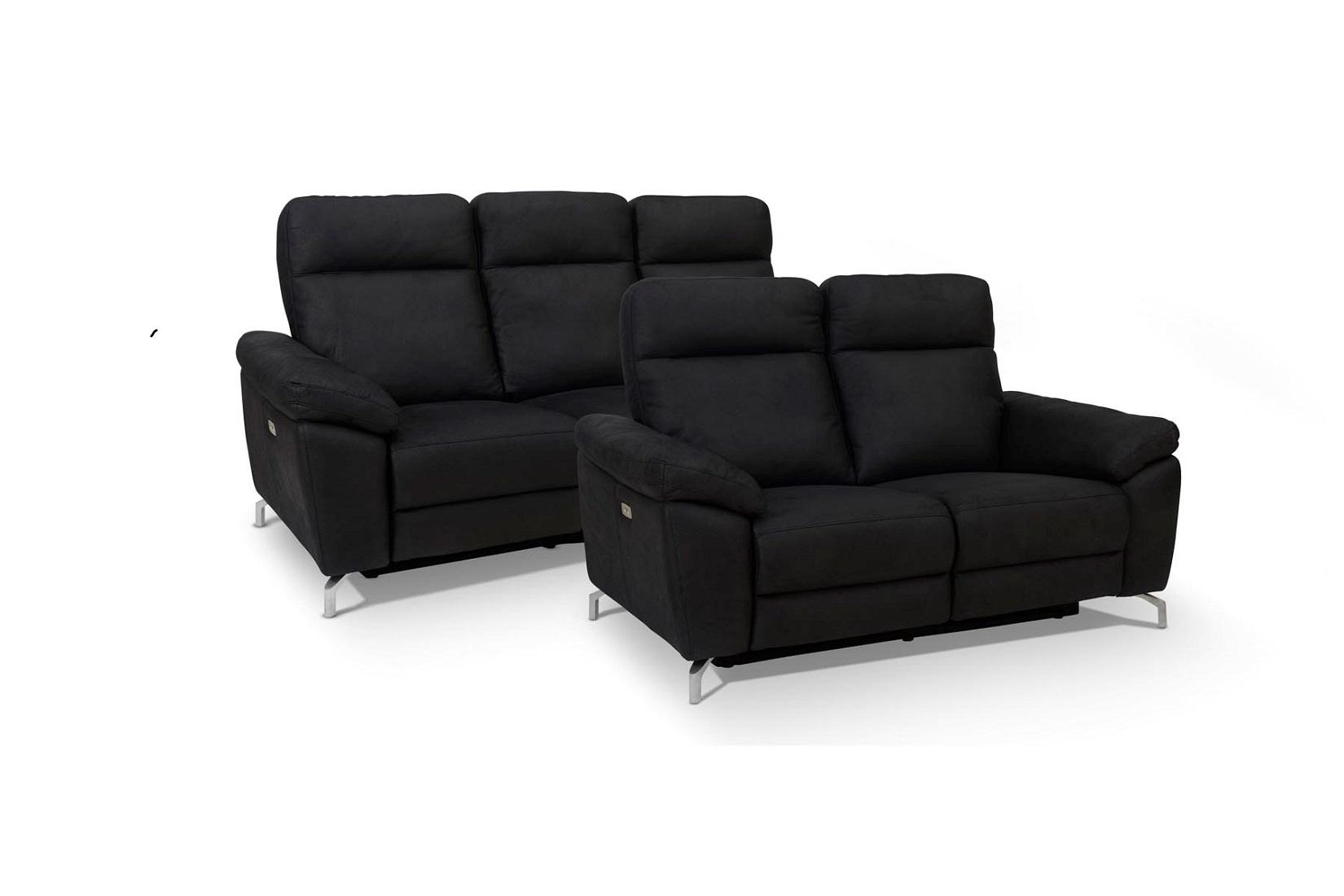 Furnistore Designová 2-místná sedačka Abeeku, černá