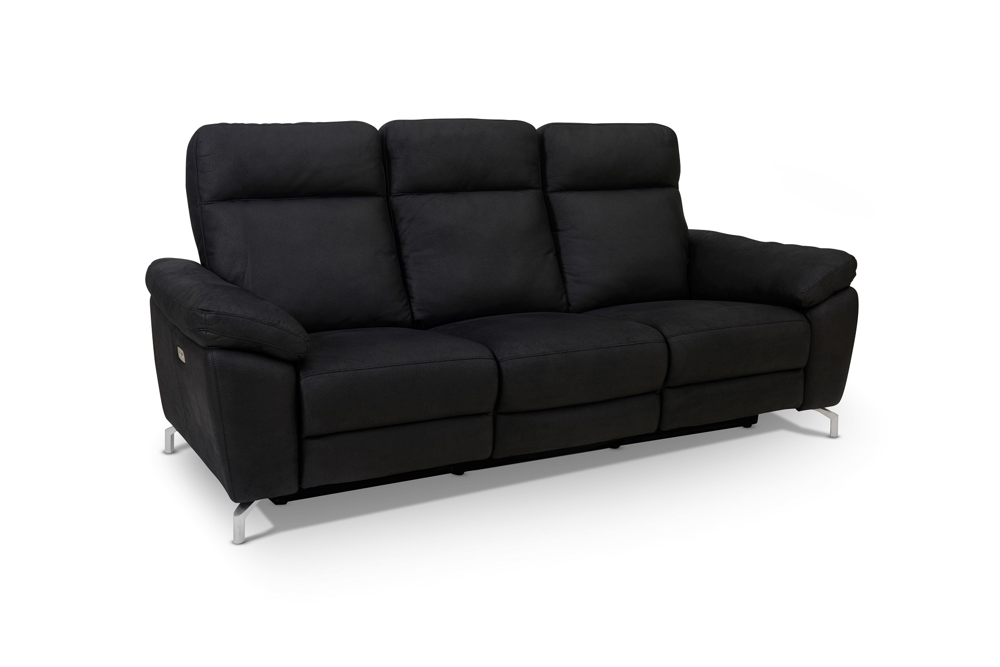 Furnistore Designová 3-místná sedačka Abeeku, černá