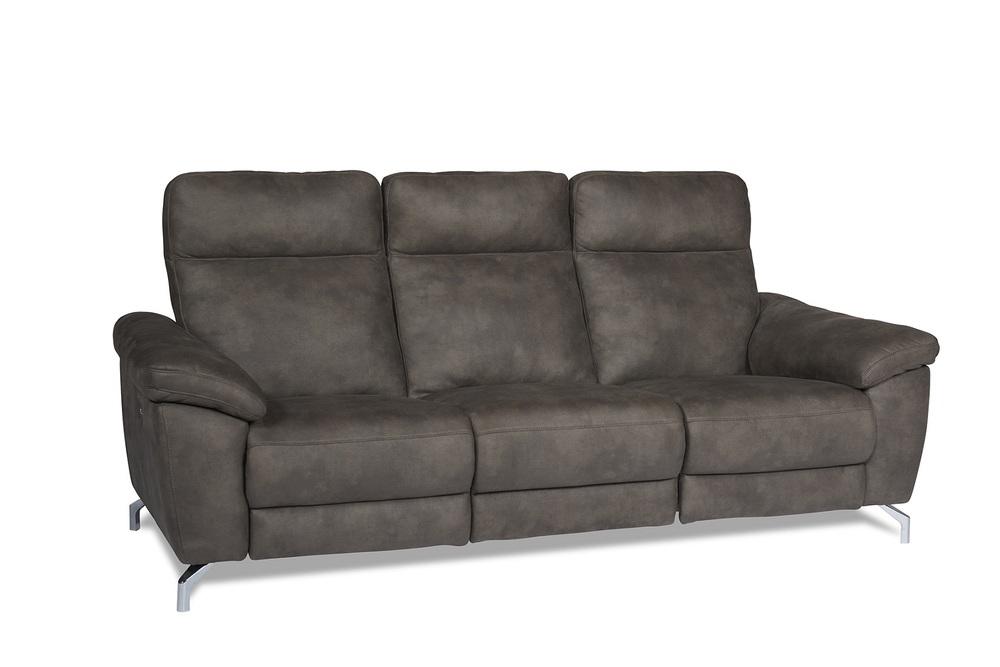 Furnistore Designová 3-místná sedačka Abeeku, hněda