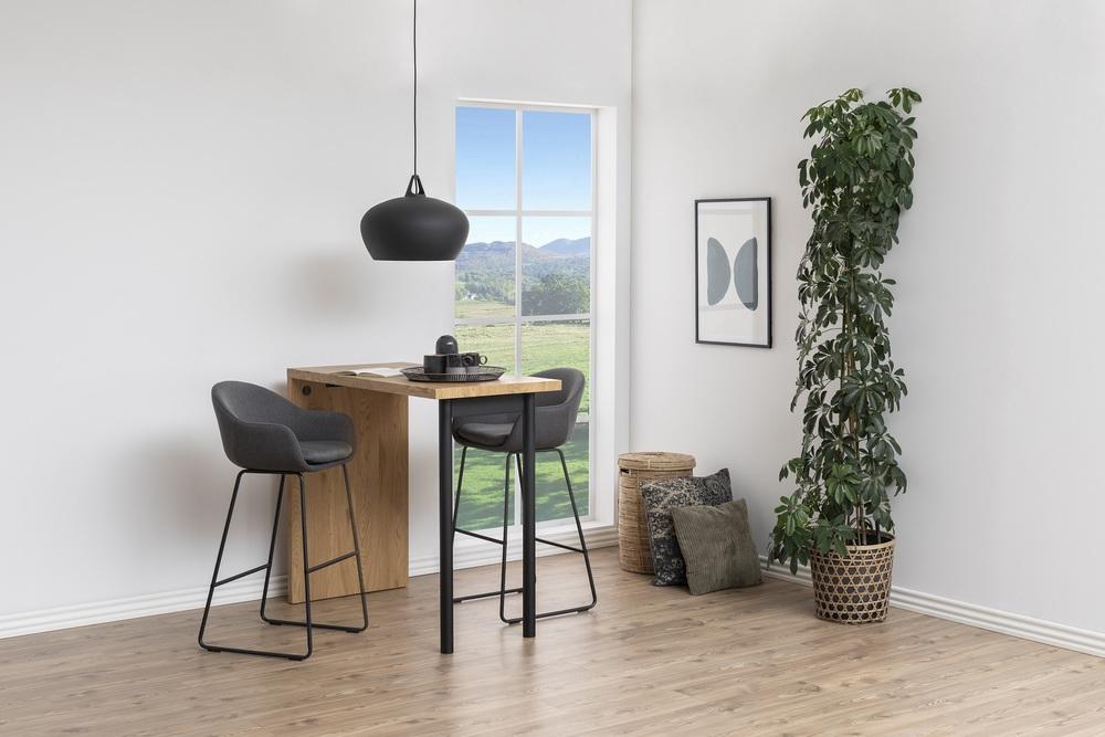 Levně Dkton Designová barová židle Aladdin tmavě šedá