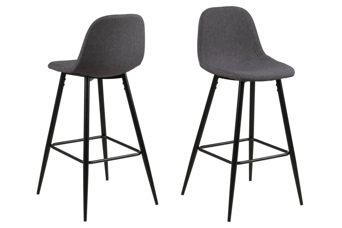 Dkton Designová barová židle Nayeli šedá a černá