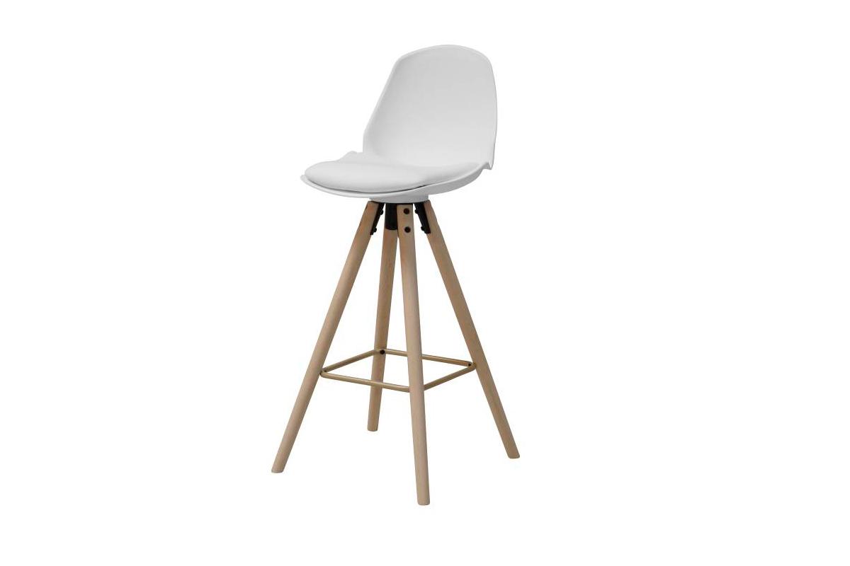 Dkton Designová barová židle Nerea bílá