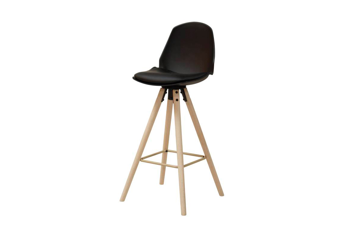 Dkton Designová barová židle Nerea černá