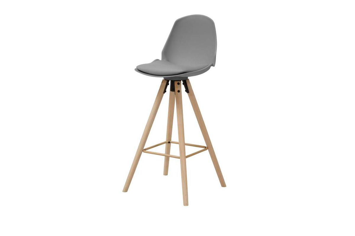 Dkton Designová barová židle Nerea šedá
