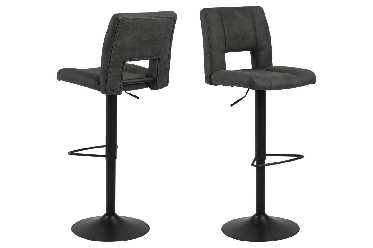 Dkton Designová barová židle Nerine antracitová