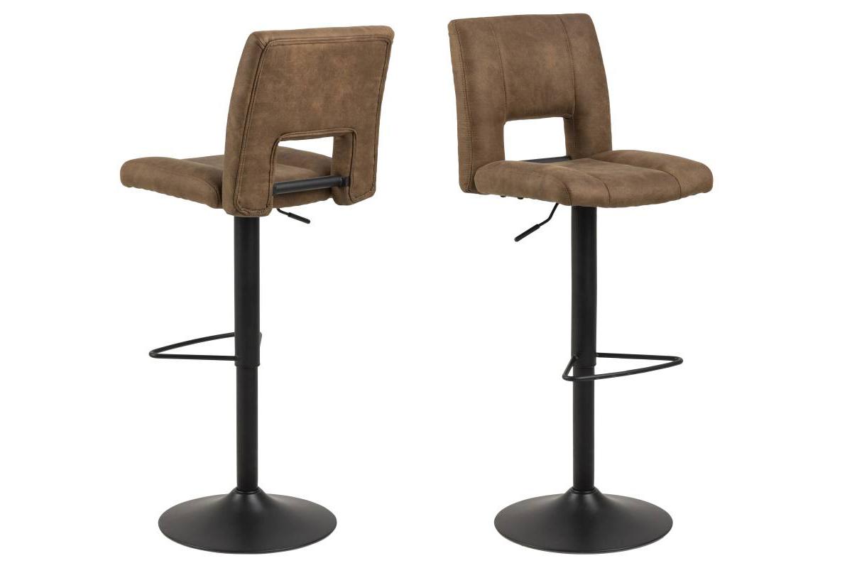 Dkton Designová barová židle Nerine světle hnědá a černá