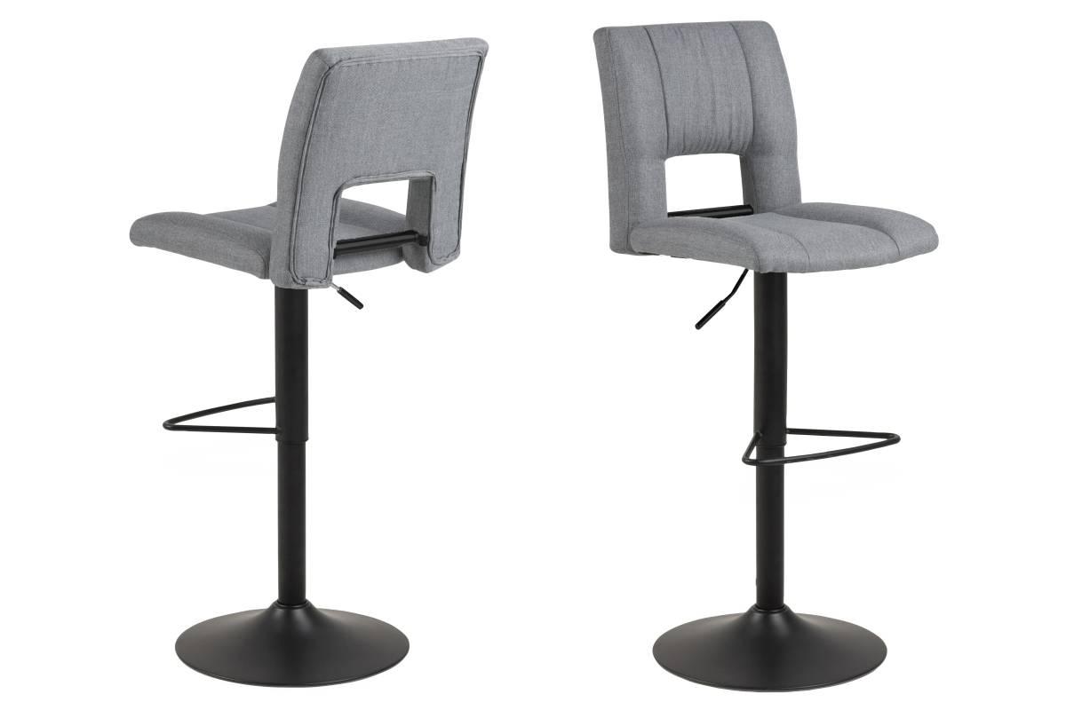 Dkton Designová barová židle Nerine světle šedá a černá