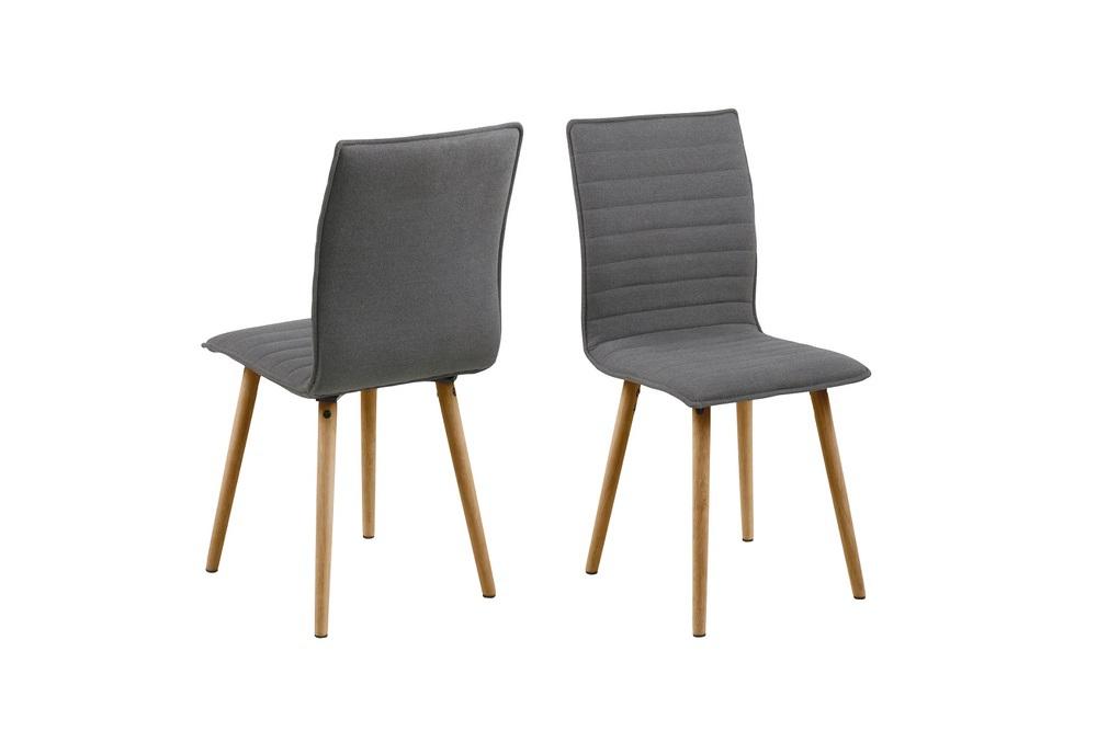 Dkton Designové jídelní židle Alberic světlešedá
