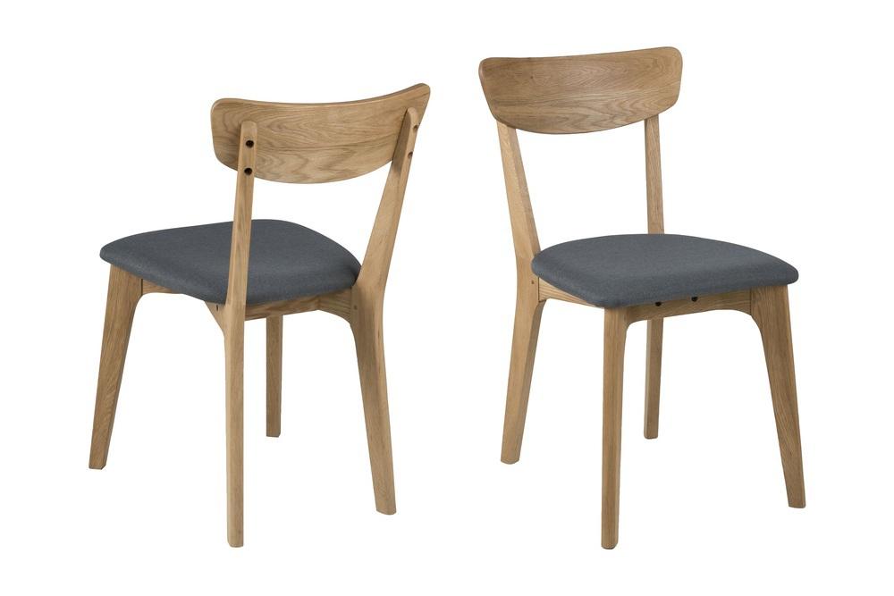 Dkton Designová jídelní židle Aloysius tmavě šedá