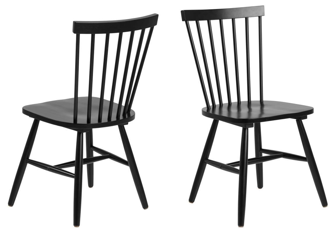 Dkton Designová jídelna židle Neri černá