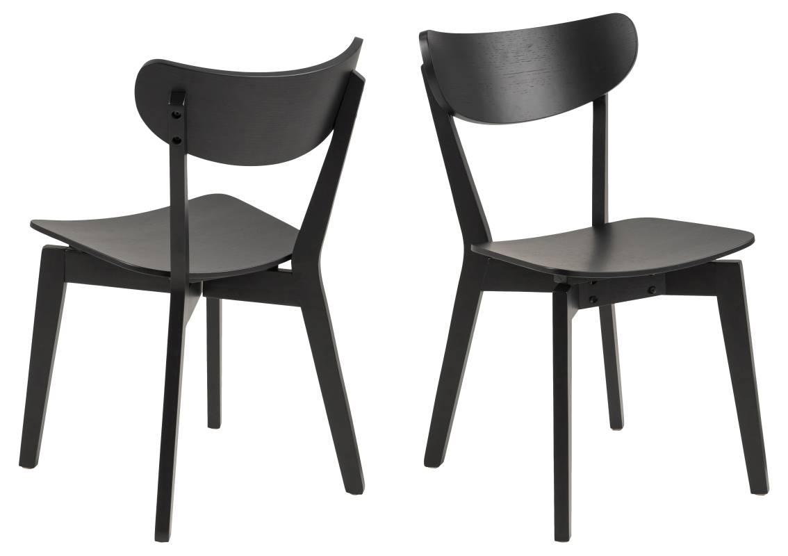 Dkton Designová jídelna židle Nieves černá