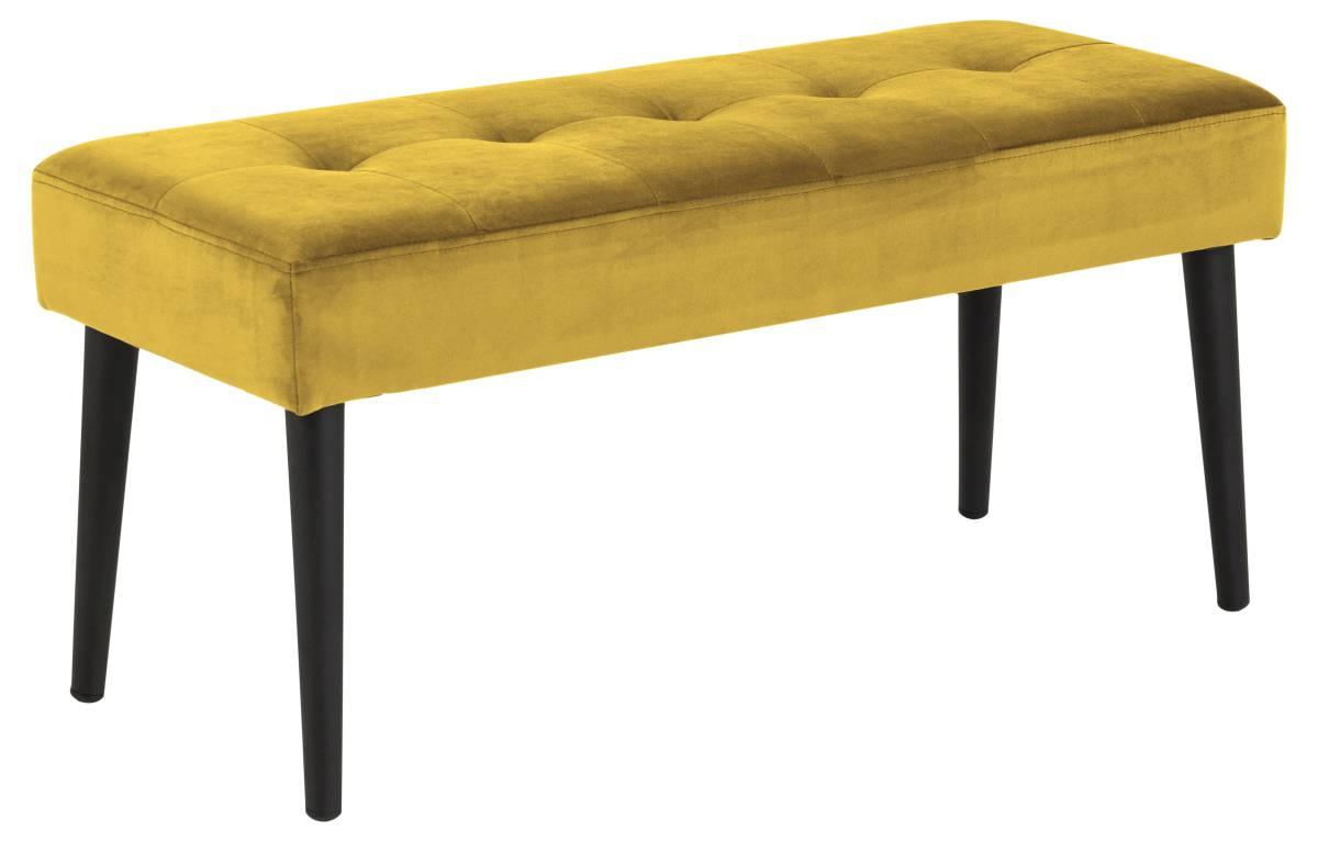 Levně Dkton Designová lavička Neola žlutá