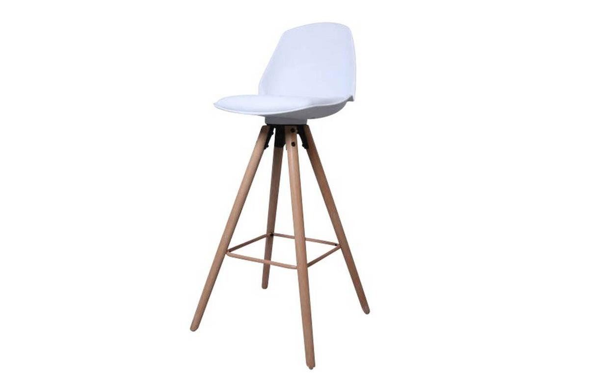 Dkton Designová pultová stolička Nerea bílá