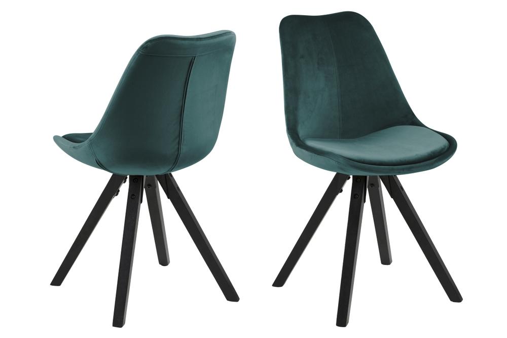Levně Dkton Designové židle Nascha lahvově zelená černá